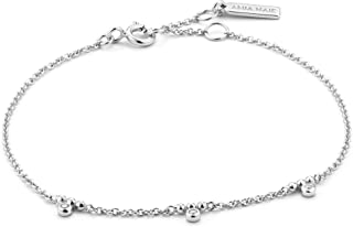 925 Sterling Silver Cubic Zirconia Studded Simple Layering Bangle Bracelet for Women
