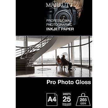 /Carta A4 Marrutt 265/GSM Pro photo Gloss/ 25/fogli