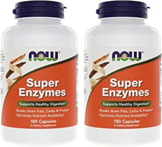 Now Foods Super Enzymes 180 Capsules (2 Pack)