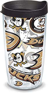 Tervis NHL Anaheim Ducks All Over Tumbler with Wrap and Black Lid 16oz, Clear