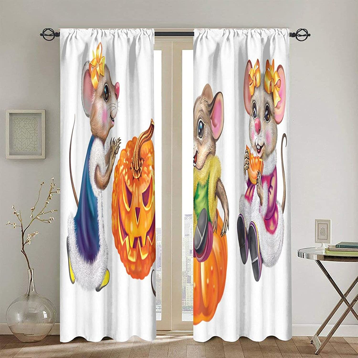 Blackout Curtains for Girls Boys Celebration Halloween Funny Gifts Super beauty product restock quality top Mou