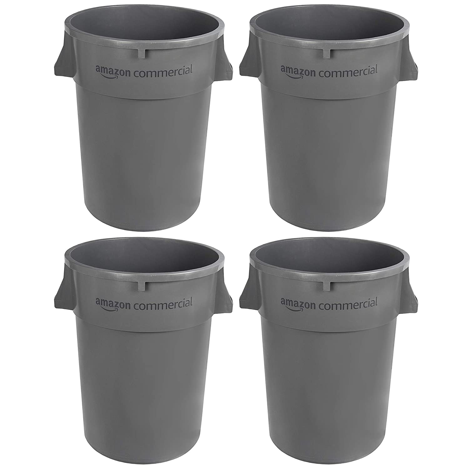 AmazonCommercial 44 Gallon Heavy Duty Trash G Round Garbage Seasonal Wrap Introduction Surprise price Can