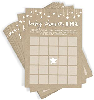 Printed Party Baby Shower Bingo Game, Set of 50 Cards, Baby Shower Game and Activity, Fun, Unique, and Easy to Play