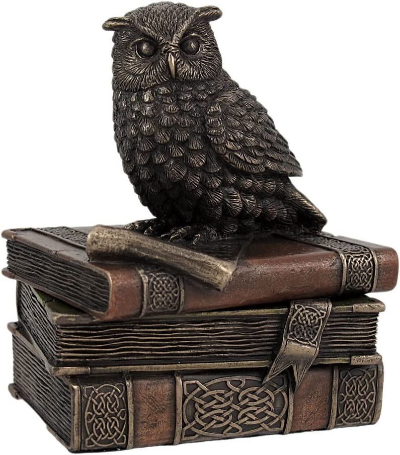 Ranking TOP10 Veronese Design Bronzed Finish Wise Old All items in the store Box Trinket Owl