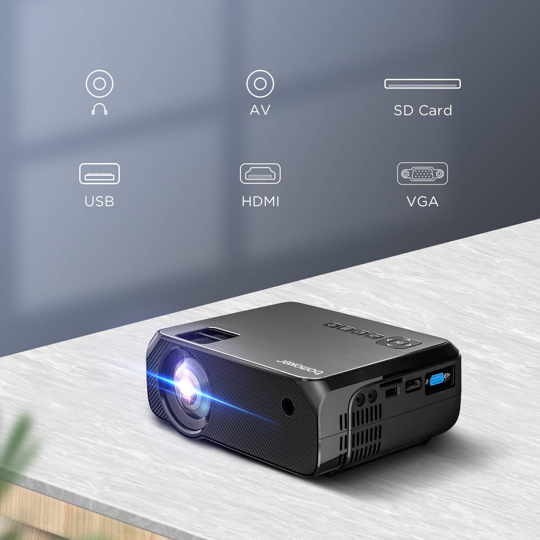 Proyector WiFi, BOMAKER 6000 Lúmenes Resolución Nativa 720P ...