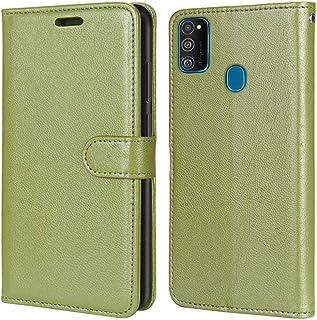 Laybomo Carcasa para Samsung Galaxy M30s M307 Tapa Funda Cuero Estilo-Sencillo Monederos Billetera Bolsa Magnética Protect...