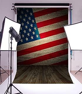 American Flag Backdrop Laeacco 3x5ft Vinyl Photography Background Vintage Wood Floor Newborn Baby Children Photo Portrait Studio Shoot Props Stars and Stripes Wood Retro Backdrop Floor Wall