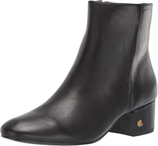 Lauren Ralph Lauren Women's Welford Ankle Boot, Black, 9 B US