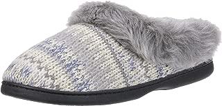 Women's Wide Width Knit Clog Slipper