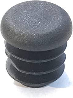 "(Pack of 10) 1/2"" OD Round End Caps (16-18 Ga - for Hole Size 0.37"" - 0.40"" ID) 0.50 Round Inch Sliding Inserts 