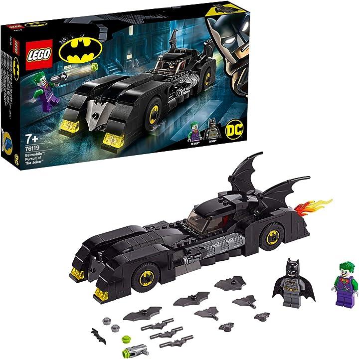 Batmobile lego inseguimento di joker modellino di auto giocattolo dei supereroi 76119