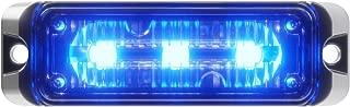 Abrams Flex Series (Blue) 9W - 3 LED Police EMS EMT Vehicle Truck LED Grille Light Head Surface Mount Strobe Warning Light