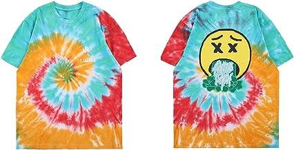 NAGRI Short Sleeve Graphic Fashion T-Shirt, Rainbow/Smile Face, X-Large