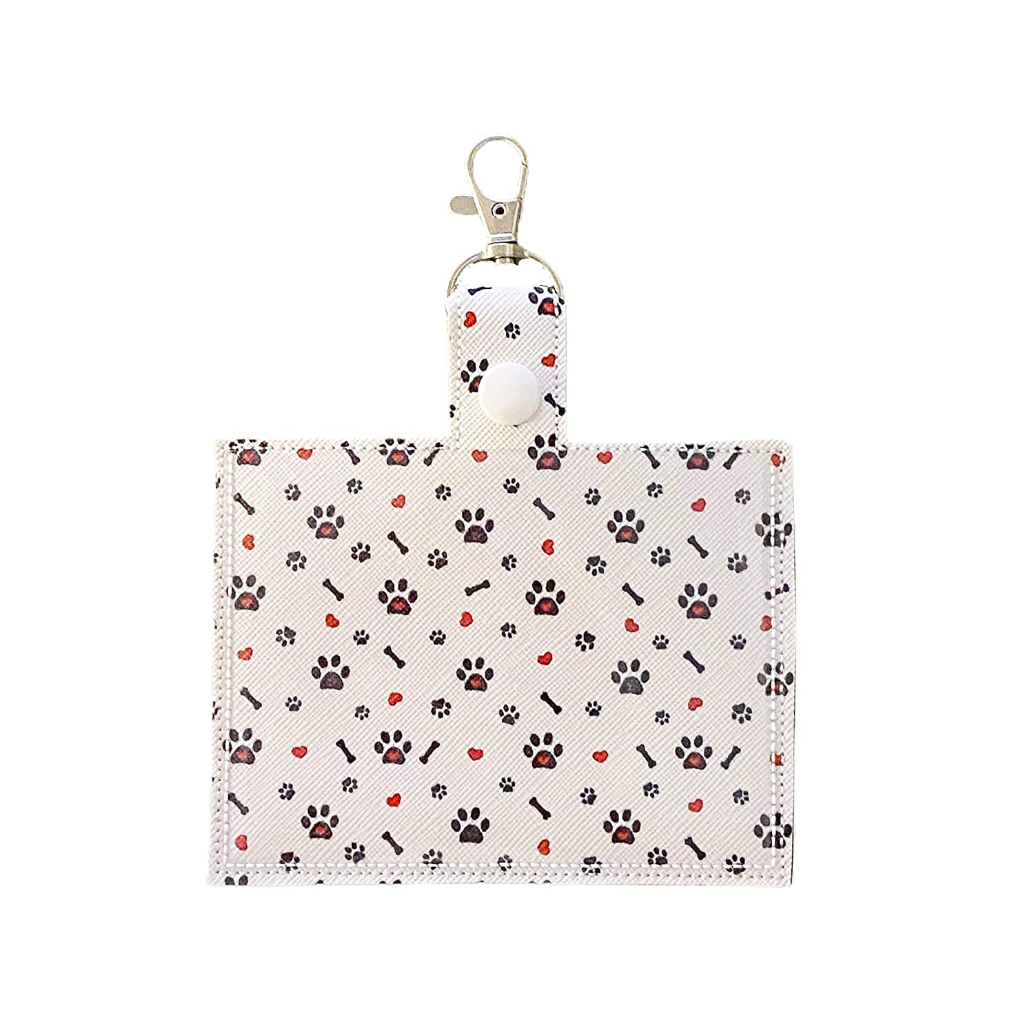 Patterned Vaccine Card Holder Keychain Bones 2021 new with And New popularity Clip Paws