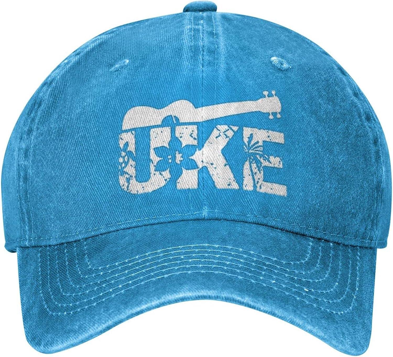 Guncore Colorful Hawaiian Ukulele Cowboy Cap Original Fashion Retro Dad Baseball Hat Outdoor Travel(Unisex)