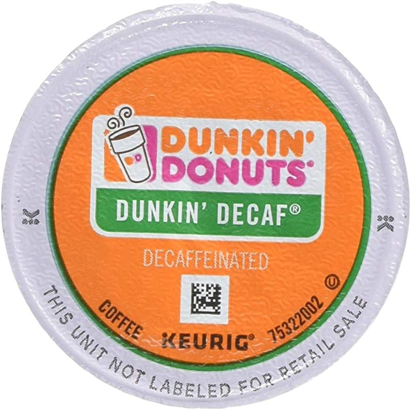Dunkin Donuts 0846 K Cup Pods Decaf 24 Box
