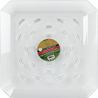 Plastec SQR14 Square Recycled Plant Saucer, 14-Inch