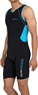 RunBreeze Men's Triathlon Suit | Breathable, Quick-Drying Tri Suit with Dual Rear Pockets