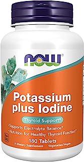 Now Foods, Potassium Plus Iodine, 180 Tablets