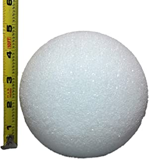 White Styrofoam Balls for Arts and Crafts (12 Balls) - by LACrafts (5 Inch)