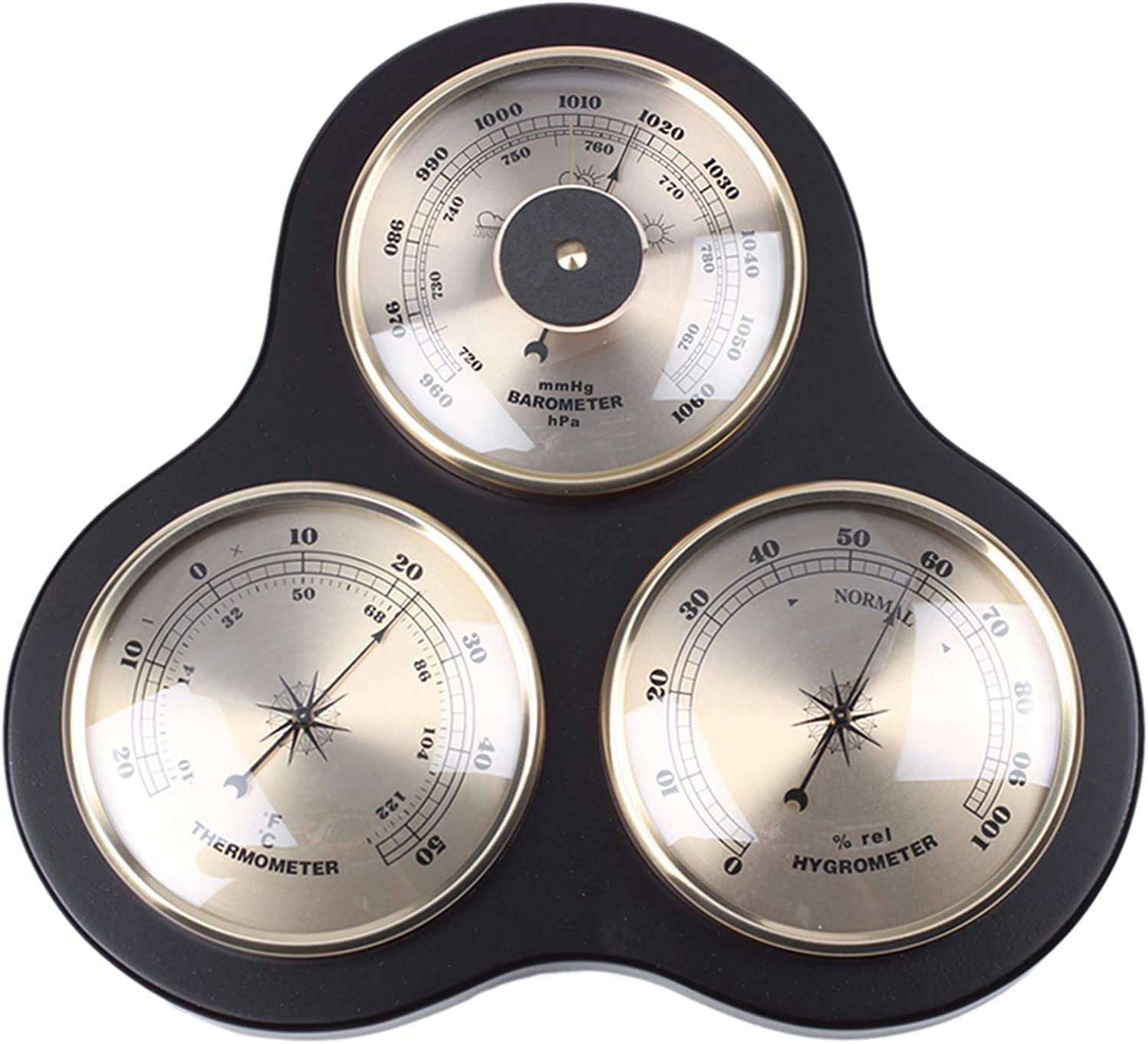 Wooden Thermometer Hygrometer NEW Barometer Max 83% OFF Traditional Weather Stat