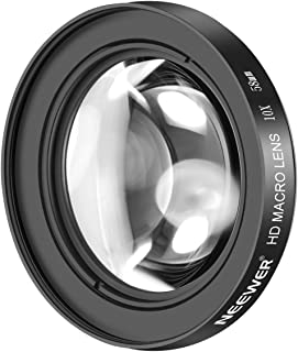 Neewer 58mm 10X Close-Up Macro Lens with HD Multicoated Anti-Reflective Glass for Canon EOS 80D, 70D, 60D, 50D, 1Ds, 7D, 6D, 5D, 5DS, T6s, T6i, T6, T5i, T5, T4i, T3i, T3 and SL1 Digital SLR Cameras