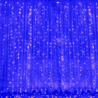 Twinkle Curtain Lights 8 Lighting Modes, 10 Ft Connectable Waterproof Outdoor String Lights for Wedding Party Garden Patio...