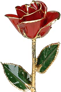 Red 24k Gold Rose by Living Gold - Real Rose Dipped in Gold