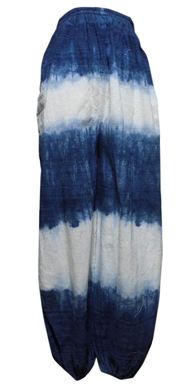 アジアン衣料 男女兼用 コットン?藍染パンツ AP-1