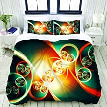 Parure de lit 3D avec Housse de Couette et taie d'oreiller Parure de lit avec Housse de Couette en Housse de Couette impri...