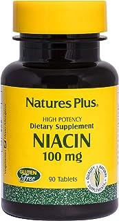 NaturesPlus Niacin - 100 mg, 90 Vegetarian Tablets - High Potency Vitamin B3 Supplement, Promotes Heart Health & Lower Cho...