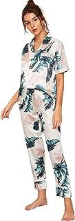 Women's Printed Pajamas Set Button Down Sleepwear Nightwear Soft Pj Lounge Sets