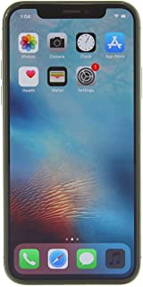 Apple iPhone X, GSM Unlocked, 64GB - Space Gray (Renewed)