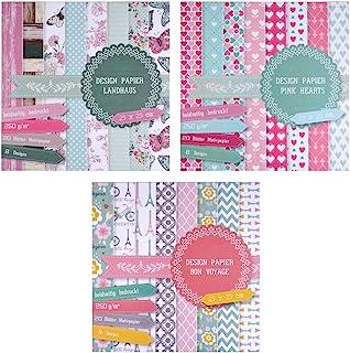 comprar comparacion East-West Trading - 3blocs de papel de 20 hojas cada uno, impresas porambos lados, papel de diseño, papel para manualida...