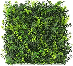 Artificial Hedge Panel, Boxwood Green Ivy Privacy Fence Screening, Balcony Garden Outdoor Wall Decoration (50x50cm) 423WZB (Color : 03)