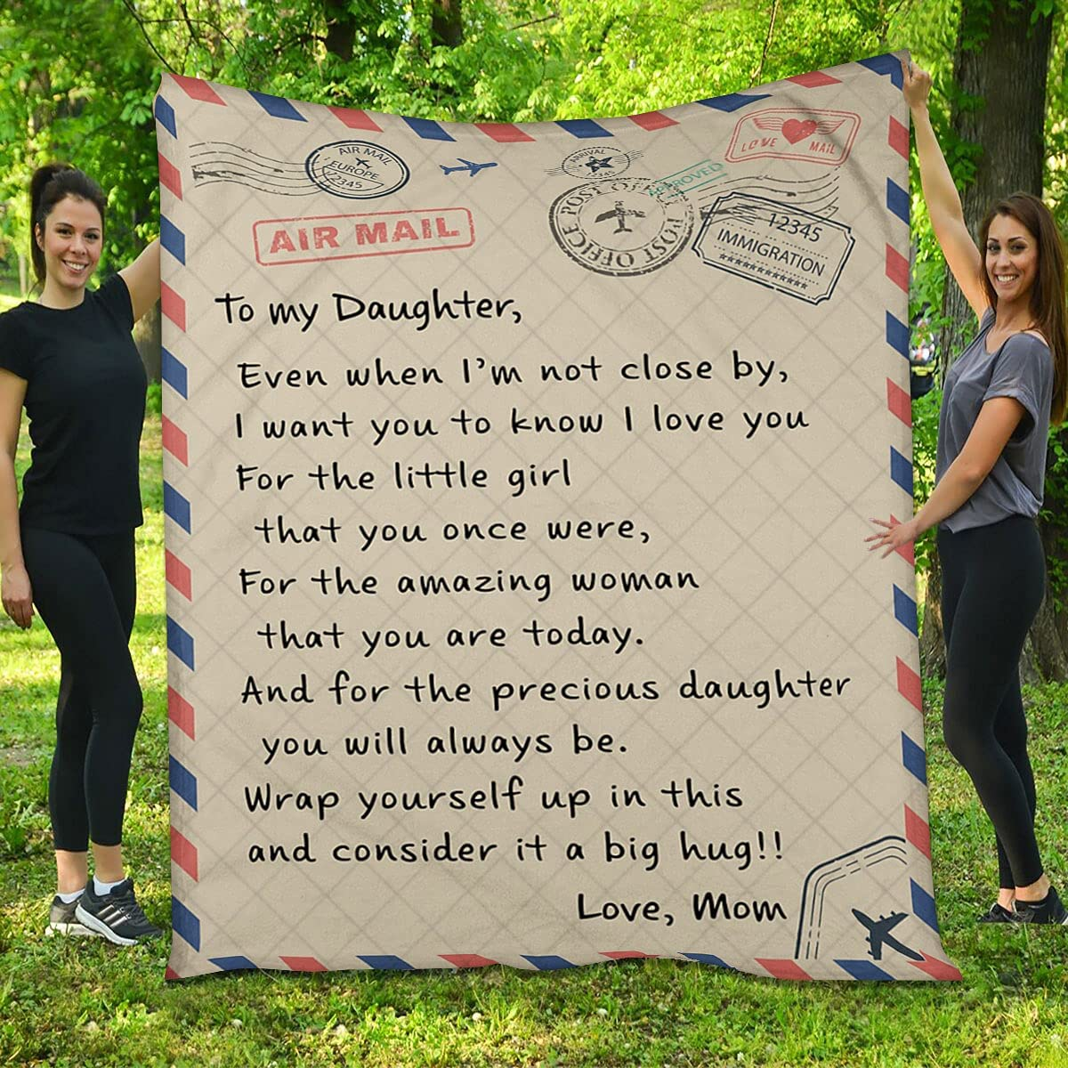 to My Daughter from Mom Quilt - You for Excellent Cheap mail order shopping Letter Th I Love