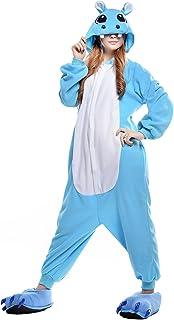 ملابس نوم نسائية من البوليستر مطبوع عليها صورة فرس النهر من CANASOUR (متوسط، أزرق فرس النهر)