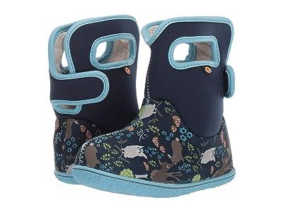 Bogs Kids Baby Bogs Woodland Friends (Toddler) (Blue Multi) Girls Shoes