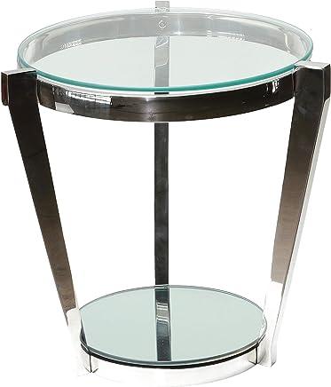 Cortesi Home CH-ET636946 Simba 双架端桌,49.53 厘米,银色