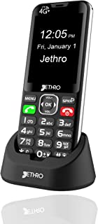 Jethro [SC490] 4G/LTE Unlocked Bar Style Senior Cell Phone for Elderly & Kids, Big Screen and Large Buttons, Hearing Aid C...