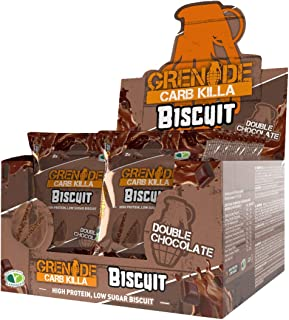Grenade Double Chocolate Biscuit (12 Packs), Double Chocolate,