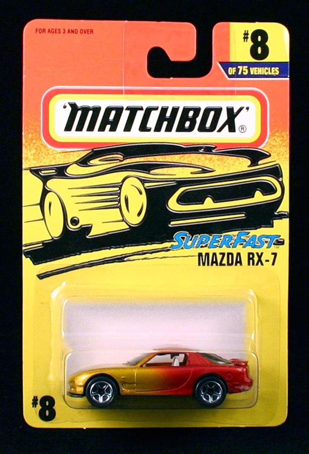 MAZDA RX-7 Superfast Series MATCHBOX 1997 Basic Die-Cast Vehicle ( 8 of 75) by Matchbox