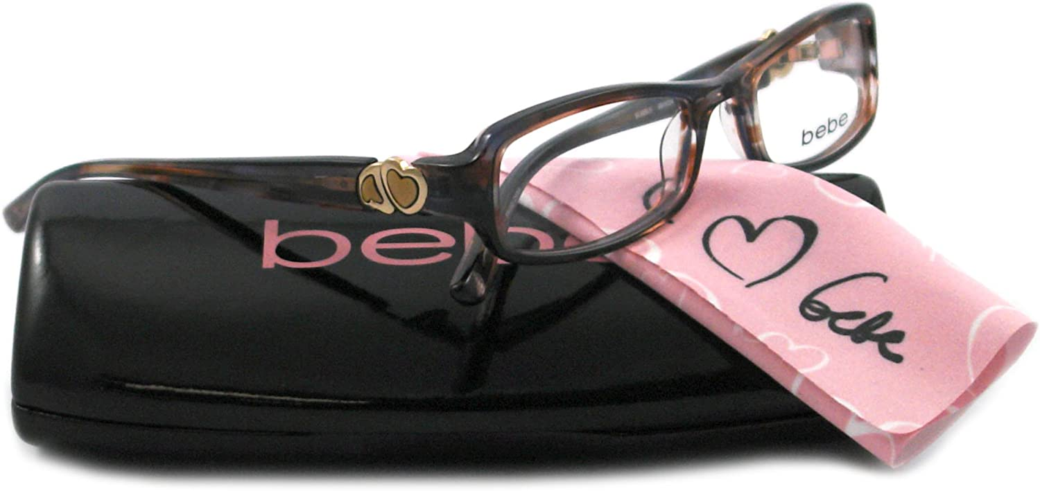 Bebe Eyeglasses BB 5024 BROWN 002 LATTE BUBBLE