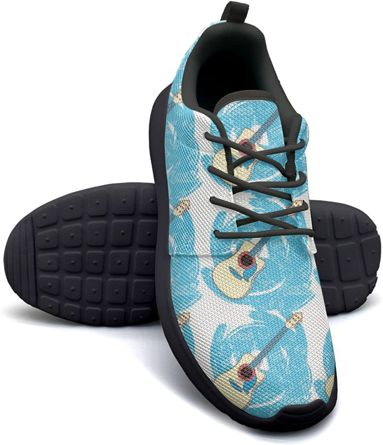 ERSER Art Guitar bluee Road Running shoes Women