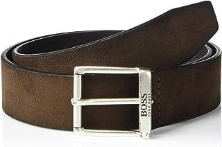 حزام جلدي ناعم من الجلد السويدي جوردين للرجال من هوجو بوس