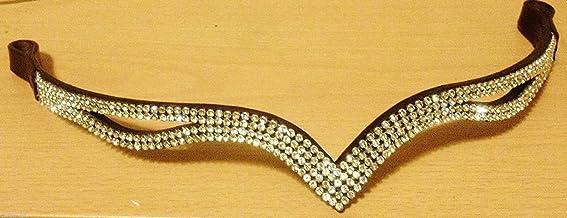 CWELL EQUINE Nouveau Design V Split Clair Cristal Frontal Choix de 4/Tailles