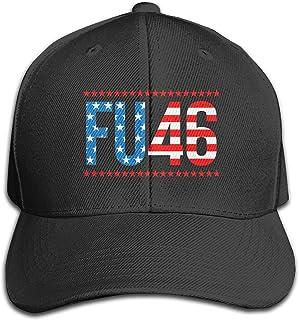 Fu 46 Unisex Adjustable Baseball Cap Sun Hat Casquette Caps for Men Women Black