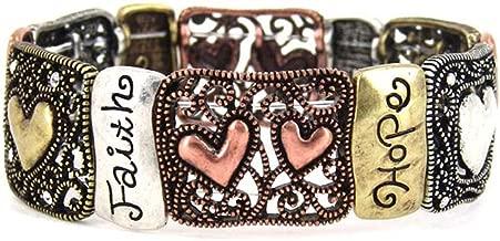 4030210 1 Corinthians 13 Faith Hope Love Stretch Bracelet Christian Scripture Religious