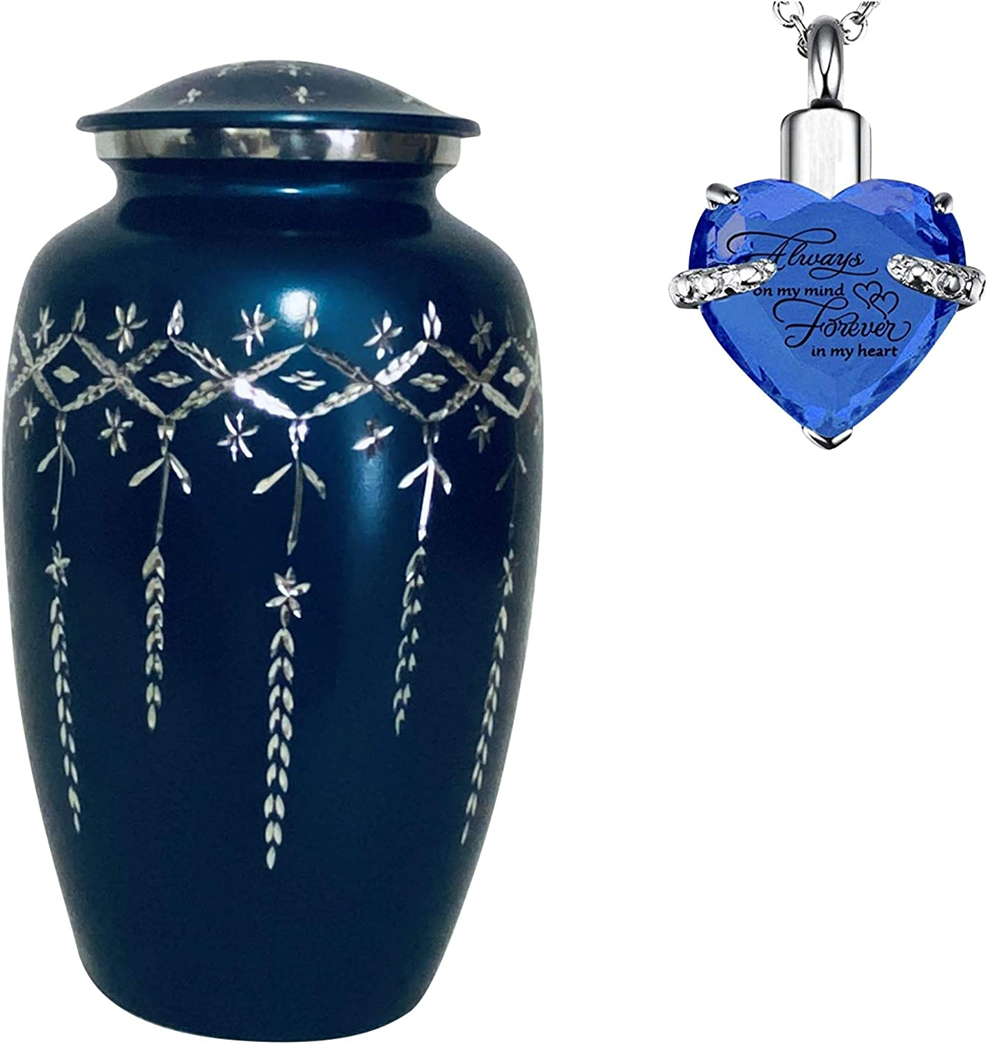 Decorative Urns for Human Ashes Adult Cremains Urns for Adult Ash for male father dad mother women daughter children pet dog cat bird burial urn to your loved one as funeral earns daddy