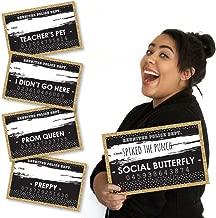 Big Dot of Happiness Reunited - School Class Reunion Party Mug Shots - Photo Booth Props Mugshot Signs - 20 Count